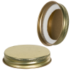 48/400 Gold Metal Cap with Plastisol Liner