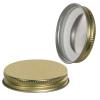 53/400 Gold Metal Cap with Plastisol Liner