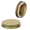 58/400 Gold Metal Cap with Plastisol Liner