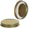 63/400 Gold Metal Cap with Plastisol Liner