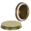 70/400 Gold Metal Cap with Plastisol Liner
