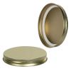 89/400 Gold Metal Cap with Plastisol Liner