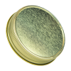 70G-450 Gold Metal Cap with Plastisol Liner & No Button