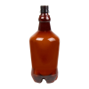 32 oz. Light Amber PET Growler with 28mm Neck  (Cap Sold Separately)