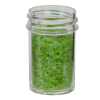 7/8 oz. Polystyrene Straight Sided Clear Jar with 33/400 Neck (Cap Sold Separately)