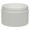 10 oz. Polypropylene Straight Sided White Jar with 100/400 Neck (Cap Sold Separately)