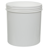 40 oz. Polypropylene Straight Sided White Jar with 120/400 Neck (Cap Sold Separately)