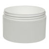 10 oz. Polypropylene Straight Sided Thick Walled White Jar with 100/400 Neck (Cap Sold Separately)