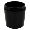 4 oz. Black Polypropylene Tapered Thick Wall Jar with 63/400 Neck