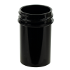 7/8 oz. Black Polypropylene Straight Sided Jar with 33/400 Neck (Cap Sold Separately)