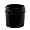 1 oz. Black Polypropylene Straight Sided Jar with 43/400 Neck (Cap Sold Separately)