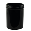 8 oz. Black Polypropylene Straight Sided Jar with 70/400 Neck (Cap Sold Separately)