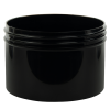 10 oz. Black Polypropylene Straight Sided Jar with 100/400 Neck (Cap Sold Separately)