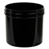 12 oz. Black Polypropylene Straight Sided Jar with 89/400 Neck (Cap Sold Separately)