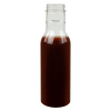 12 oz. Clear PET Round Sauce Bottle with 38/400 Neck (Cap Sold Separately)