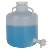 """4 Gallon Nalgene™ Wide Mouth LDPE Carboy Modified by Tamco® with 3/4"""" NPT Spigot"""