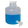 "2-1/2 Gallon Tamco® Modified Nalgene™ Wide Mouth Polypropylene Carboy with a 3/4"" HDPE Spigot"