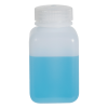 8 oz./250mL Nalgene™ Wide Mouth Polyethylene Square Bottle with 43mm Cap