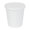 8 oz. White Specimen Containers with Lids
