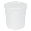 16 oz. White Specimen Containers with Lids