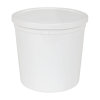 165 oz. White Specimen Containers with Lids