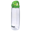24 oz. Clear Nalgene® On The Fly Tritan Water Bottle with Green Cap