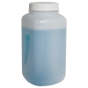 4000mL Wide Mouth Polypropylene Square Bottle with Cap