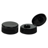 "38/400 Black Ribbed Snap Top Cap with .5"" Orifice"