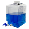 20.8 Liter/5.5 Gallon Rectangular Nalgene™ Clearboy™ Container with Spigot