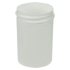 1 oz. Polypropylene Straight Sided White Jar with 38/400 Neck (Cap Sold Separately)