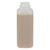 16 oz. HDPE Square Bottle with 38mm DBJ Neck (Cap Sold Separately)