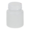 2 oz. HDPE Bottle with Clear TE Band