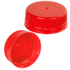38mm ISS Red LDPE Tamper Evident Screw Cap