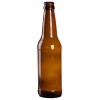 12 oz. Amber Glass Beer Bottle (Cap Sold Separately)