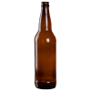 22 oz. Amber Glass Beer Bottle (Cap Sold Separately)