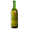 750mL Champagne Green Flat Bottom Glass Bottle with Cork Neck