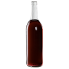 750mL Clear Flat Bottom Glass Bottle with Cork Neck