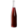 750mL Clear Glass Flat Bottom Bottle w/ Tall Cork Neck