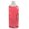 64 oz. Clear PET French Square Bottle with 38mm DBJ Neck & Label Panel (Cap Sold Separately)