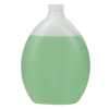 400mL Natural Pluto Oval HDPE Bottle with 24/410 Neck (Cap Sold Separately)