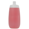500mL Natural Flat Oval HDPE Bottle with 24/415 Neck