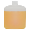 500mL Natural HDPE Rectangular Bottle with Round Shoulders & 28/410 Neck (Cap Sold Separately)
