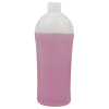 500mL Natural HDPE Allure Oval Bottle with 28/410 Neck (Cap Sold Separately)
