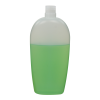 350mL Natural Almond Oval HDPE Bottle with 24/415 Neck (Cap Sold Separately)