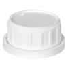 White Tamper Evident Cap with Foam/PTFE Liner for Chem50 Bottle
