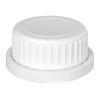 White Cap with Foam/Aluminum Liner for Type 62 Bottle