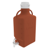 10L Amber EZgrip® HDPE with 83mm Closed Cap & Spigot