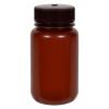 125mL Nalgene™ Wide Mouth Translucent Amber HDPE Bottle with 38/415 Cap