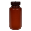 250mL Nalgene™ Wide Mouth Translucent Amber HDPE Bottle with 43/415 Cap