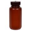 250mL Nalgene™ Wide Mouth Translucent Amber HDPE Bottle with 43/415 Cap